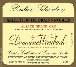DOMAINE WEINBACH RIESLING SELECTION DE GRAINS NOBLES 1/3